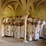 2008 Holy week in Fontfroide (France), with 5 members of Gregoriana