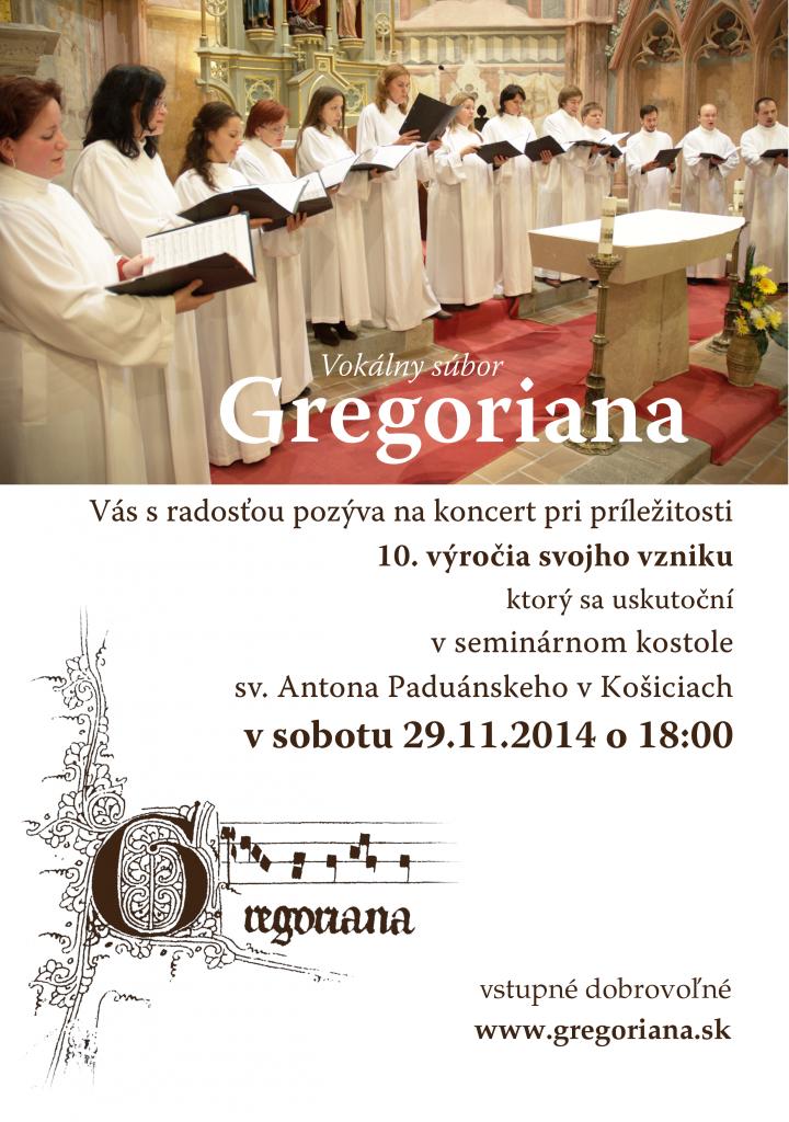 Gregoriana - 10 rokov