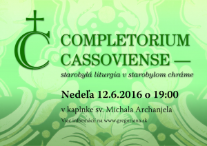 Completorium Cassoviense 63