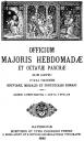 Officium Majoris Hebdomadae