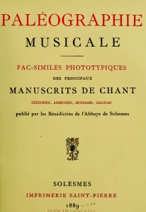Paleographie musicale